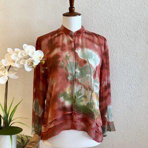 Citron, Silk Kimono Jacket, Sz PS